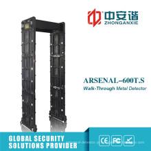 Metal Detector Gate com 24 Zonas Função de Controle Remoto Móvel