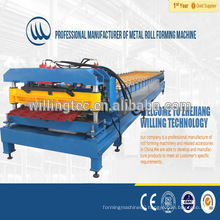 quality efficient step color glazed tile roll forming machine price for roof