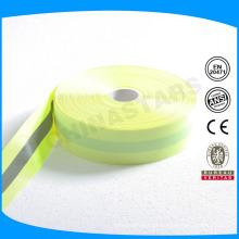 Poliéster ou oxford backing cintas de advertência reflexivas de 50mm