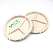 High Quality Disposable Compostable Sugarcane Bagasse Take Out Plates