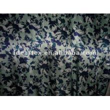 Tela del satén del poliester impreso para vestir y personalizar la ropa de noche