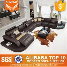 SUMENG 2015 Германия современный кожаный угловой диван для гостиной