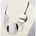 Fashion Rope Chain Stainless Steel Disc Chunky Statement Necklace