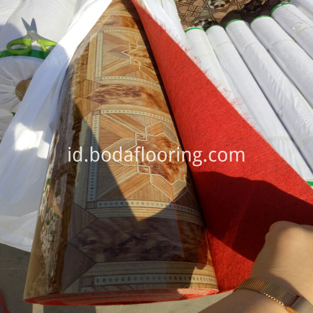 red woven pvc flooring