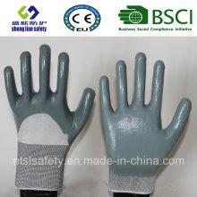13G Polyester Shell mit 3/4 Nitril beschichtete Arbeitshandschuhe (SL-N116)