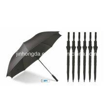 Black Fabric Auto Open Golf Straight Umbrella (YSGO0003)