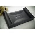 Support de savon de salle de bains de savon d'acier inoxydable de finition noire
