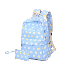 Fashion women printed canvas school backpack bag girls rucksack for female travel