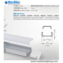 Profil d'aluminium à vente chaude avec couvercle de pression pour bande de LED