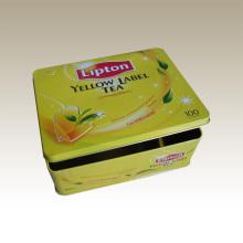 Boîte rectangulaire en fer blanc - Eg. Boîte à thé Lipton