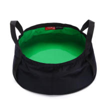 Portable Multifunctional Foldable Outdoor Camping Wash Bucket Basin with Carrying Pouch for Hiking