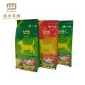 Custom Logo Design Vivid Printed Food Grade Animal Livestock Feed Packaging Bag With Zipper For Dog Food