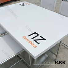 customized solid surface coffee table with logo printed