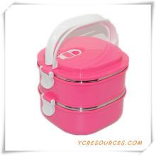 Горячая Продажа пластиковых из нержавеющей стали Коробка обеда для Выдвиженческих подарков (HA62011)