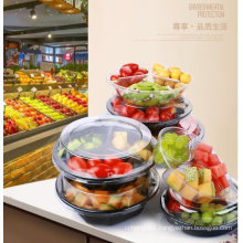 Pet Clear Plastic Compartment Take Away Salad Food Container Tray 11