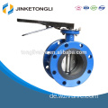 Blue Epoxy Coated Cast Iron Flange Type Butterfly Valve JKTL BT056L