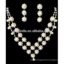 Atacado Bridal Wedding Jewelry Sets Bridal Jóias Colar Brinco Jóias Rhinestone