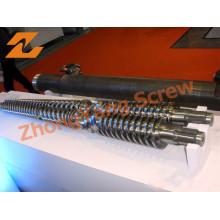 Double Screw Barrel Conical Twin Screw Barrel PVC Pipe/Sheet/Profile