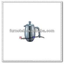 T160 Double Ply Edelstahl Konvexen Körper Teekanne