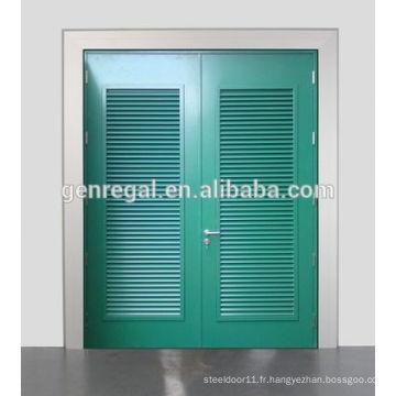 RAL Color Glavanized louvre Porte en métal d'acier