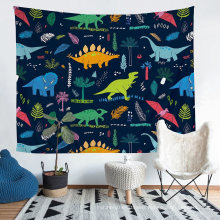 Hand Made Tailor Polyester Tapestry with Printed Jurassic Park Dinosaur Pattern