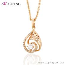 Ventas calientes Elegante CZ Glass Rose Gold-Plated imitación colgante de joyería de moda -30947