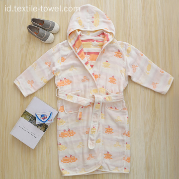 Cotton Girls Bathrobe Bathrobe Untuk Anak-Anak Baby Bathrobe
