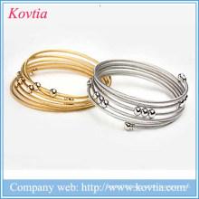2015 Hallowmas 5 layer bracelet women titanium steel bangle bracelet
