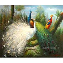 Pintura animal da lona do pavão da venda quente 2014