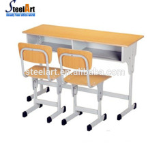Kids school furniture student desk chair set