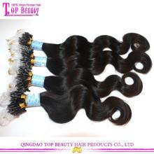 Heißer Verkauf Mode Haar Produkt Doppel Perlen Micro Ring Haarverlängerungen Für Schwarz