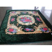 Impressão estilo árabe e cobertor de poliéster barato esculpido