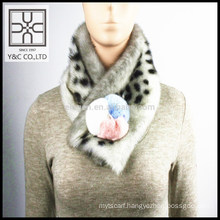 High-end Lady Fake Fur and Real Fur Mixed Scarf