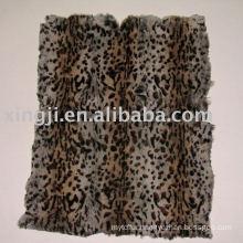 Dyed European rabbit fur plate-two color leopard spot rabbit fur skin plate