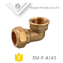 EM-F-A143 Female thread brass quick connector elbow pipe fitting tube fitting