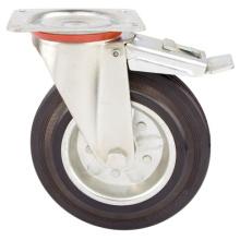 Roulette en caoutchouc avec noyau en acier, pour conteneur de déchets