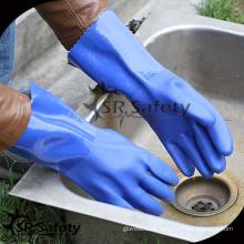 SRSAFETY Лучшее дольше Зеленые ПВХ перчатки химическая стойкость