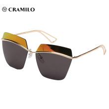 Rimless special shape fashion vintage sunglasses