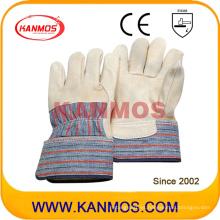 Cuero de grano de vaca guantes de trabajo de seguridad industrial (12005)