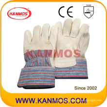 Cowhide Grain Leather Industrial Safety Work Gloves (12005)
