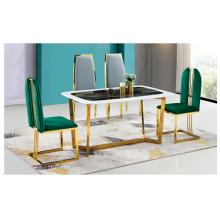 Новые поступления роскошный обеденный стол из нержавеющей стали