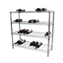 Garrafa de licor de metal Display prateleira Rack Stand (WR903590A4C)