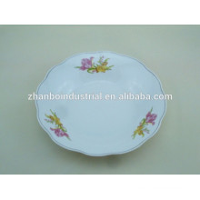 Linyi cheap 9 inch cut edge plate soup plate