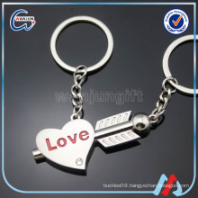 Heart Key Couple Keychain Plate