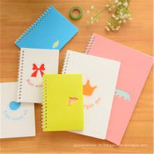Gewohnheits-gewundenes Notizbuch-Bucheinband-Karikatur-Notizbuch-Drucken