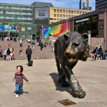 decoração do jardim ao ar livre fundição de metal personalizado tigre de bronze estátua