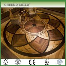 Plancher de bois franc d'ingénierie Élégant parquet de médaillon
