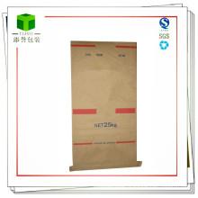 Seam Bottom Paper Plastic Composite Bag pour ingénierie plastique 25kg