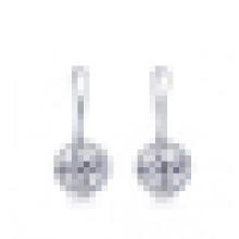 Damenmode 925 Sterling Silber Intarsien Diamant-Ohrringe