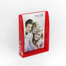 Cadres photo bon marché de boîte acrylique rouge faite sur commande